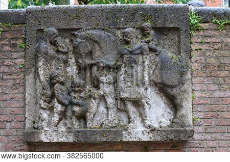 The Ancient Roman Fountain. City Of Cologne, Germany