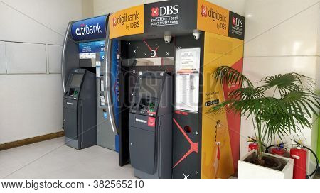 Mumbai, Maharastra/india- December 16 2019: An Automated Teller Machine (atm) Is An Electronic Banki