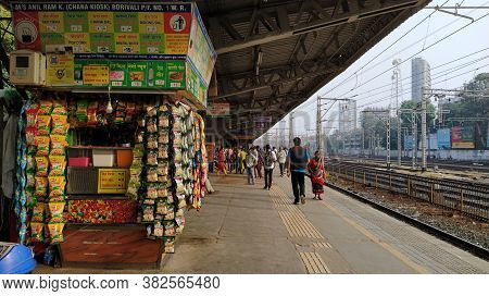 New Delhi, Delhi/india- January 18 2019: There Is A Shop At A Railway Station In North India. Silenc
