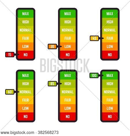Low Bar Scale. Satisfaction Rate Scale, Customer Satisfaction Good And Low Rating Indication, Goods