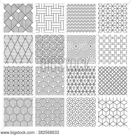 Geometric Seamless Background. Striped Graphics Texture, Maze Decorative Pattern, Geometric Backdrop