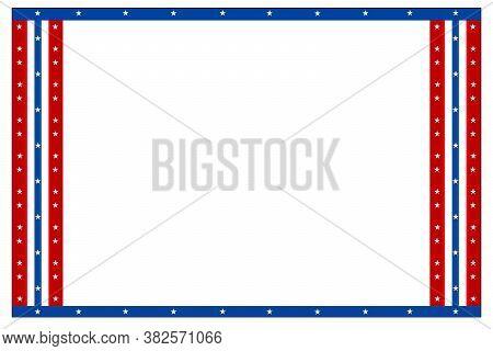 A Red White And Blue Star Border Poster Card Invitation Presentation Slide Board Witj White Backgrou