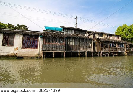 Suzhou China Picturesque Waterway Canal