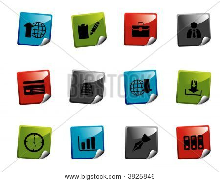 Web Icons Stickers Series