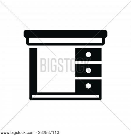 Black Solid Icon For Safety-desk Safety Desk Cupboard Cabinet Closet Furniture Shelf Wardrobe