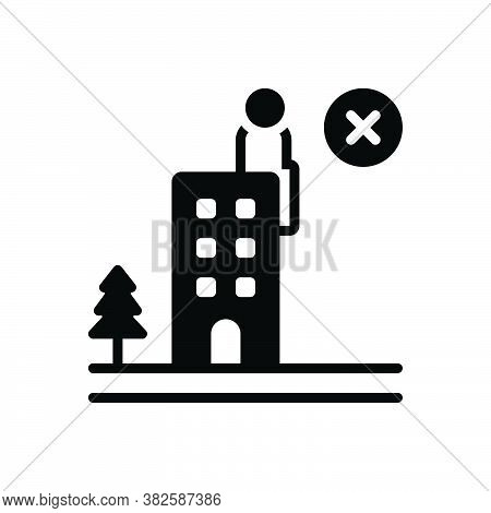 Black Solid Icon For Failure Debacle Discomfiture Fiasco Hoodoo Building Suicide