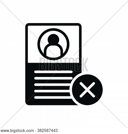 Black Solid Icon For Failure Diselect Unselected Document Fiasco Hoodoo Multiplied Cross