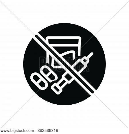 Black Solid Icon For Illegal Banned Criminal Illegitimate Unlicensed Illicit Prohibited Unlawful Wro