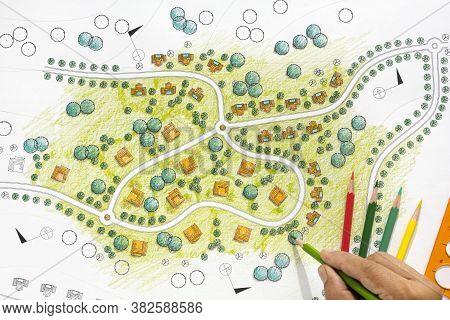 Landscape Designs Blueprints For Resort And Villa