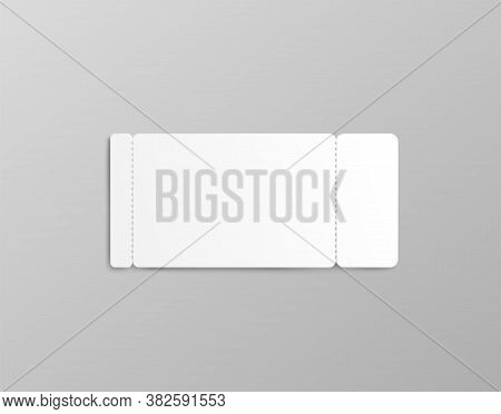 Rectangle Coupon Or Ticket Mockup With Two Stub Rip Lines