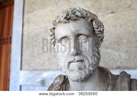 Sculpture Of Roman Emperor Antoninus Pius