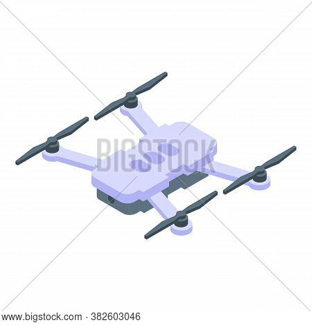Sightseeing Drone Icon. Isometric Of Sightseeing Drone Vector Icon For Web Design Isolated On White
