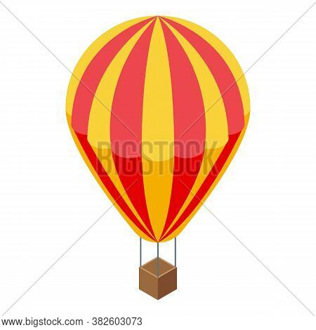Sightseeing Air Balloon Icon. Isometric Of Sightseeing Air Balloon Vector Icon For Web Design Isolat
