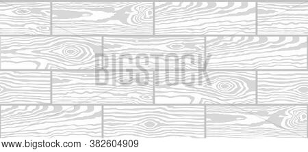 Parquet Seamless Texture. A Floor Made Of Wooden Planks, Imitation Masonry Of The Laminate. Vector W