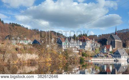Beyenburger Stausee Reservoir In Wuppertal In Bergisches Land,germany
