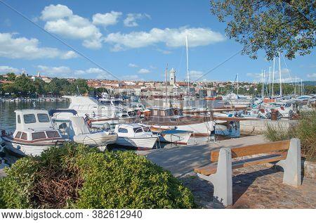 Krk Town On Krk Island At Adriatic Sea,croatia