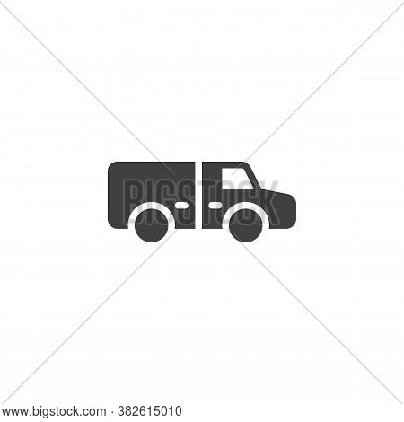 Refrigerator, Truck Vector Icon. Filled Flat Sign For Mobile Concept And Web Design. Fridge Lorry Gl