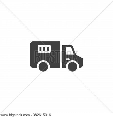 Police Truck Vector Icon. Filled Flat Sign For Mobile Concept And Web Design. Prisoner Truck, Paddy