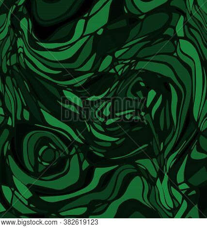 Vector Background Image Abstract Ornament Lines And Circles Green