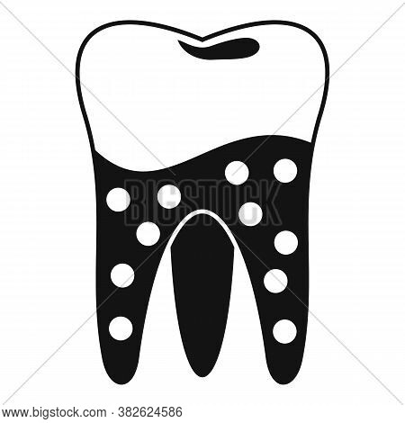 Tooth Caries Icon. Simple Illustration Of Tooth Caries Vector Icon For Web Design Isolated On White