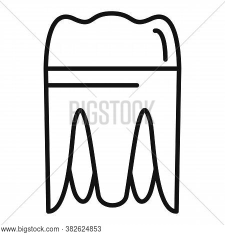 Metal Tooth Implant Icon. Outline Metal Tooth Implant Vector Icon For Web Design Isolated On White B