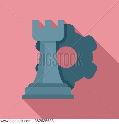 Mission Chess Rock Icon. Flat Illustration Of Mission Chess Rock Vector Icon For Web Design