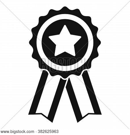 Mission Completed Emblem Icon. Simple Illustration Of Mission Completed Emblem Vector Icon For Web D