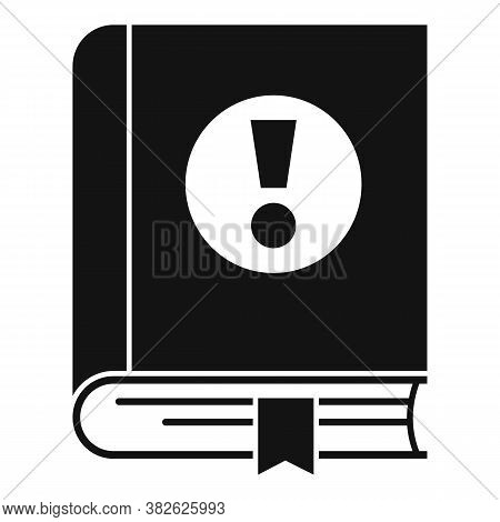 Mission Book Icon. Simple Illustration Of Mission Book Vector Icon For Web Design Isolated On White