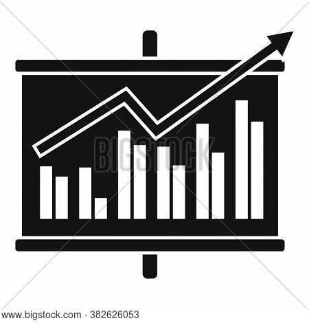 Board Chart Mission Icon. Simple Illustration Of Board Chart Mission Vector Icon For Web Design Isol
