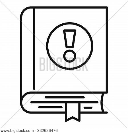 Mission Book Icon. Outline Mission Book Vector Icon For Web Design Isolated On White Background