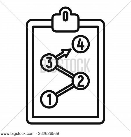 Clipboard Mission Icon. Outline Clipboard Mission Vector Icon For Web Design Isolated On White Backg