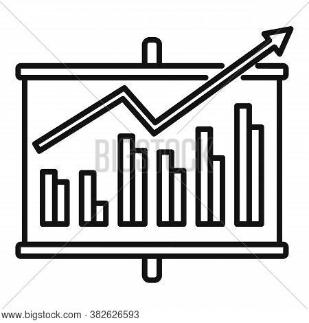 Board Chart Mission Icon. Outline Board Chart Mission Vector Icon For Web Design Isolated On White B