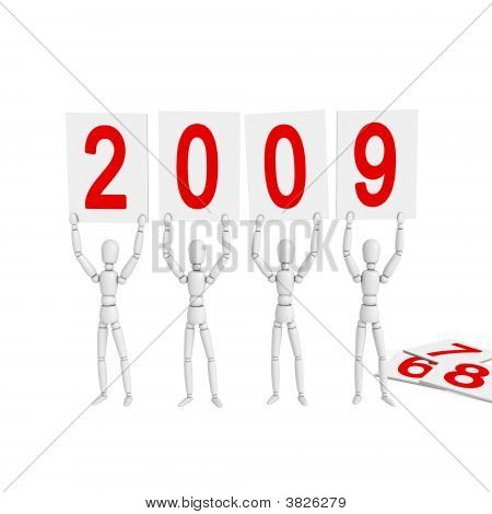 Lay Figures Welcome New Year 2009