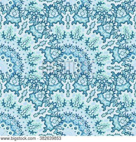 Chakra Floral Seamless Ornament. Diwali Ethnic Vector Composition. Complex Damask Kaleidoscope Geome
