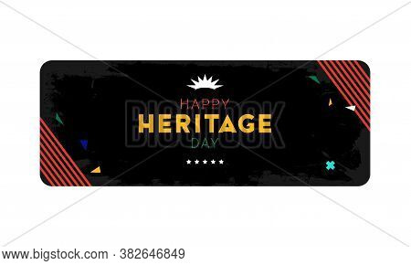 Happy Heritage Day - 24 September - Horizontal Banner Template With The South African Flag Colors On