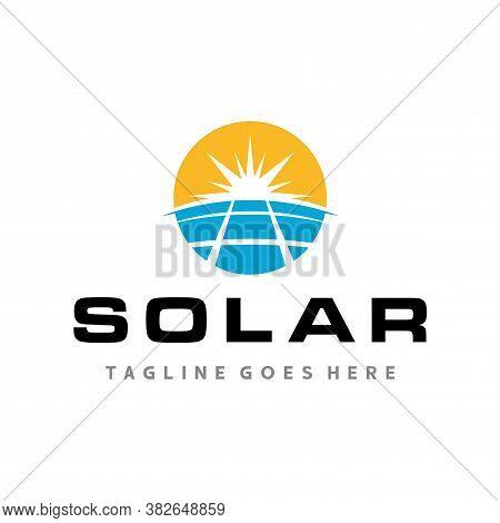 Logo For Solar Energy, Solar Panels Logo Vector