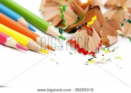 Pencils And Pencils Shaving