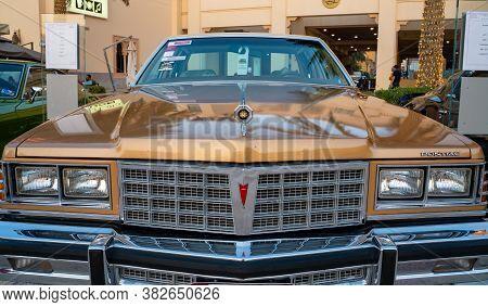 Doha,qatar- 3 March 2020 :1977 Pontiac Bonneville Vintage Classic Cars