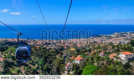 Panorama Of The City Of Funchal From The Funicular. Funchal, Madeira.