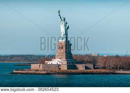 Statue Of Liberty In New York In The Usa