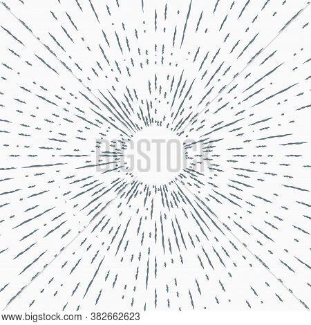 Star Burst Design Element On White Background. Sun Burst, Star Burst Sunshine. Radiating From The Ce