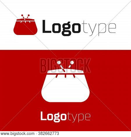 Red Wallet Icon Isolated On White Background. Purse Icon. Cash Savings Symbol. Logo Design Template