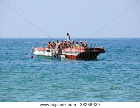 Alania, Turkey - August 31, 2008: People Are Swim In Mediterranean Sea On August 31, 2008 In Alania,