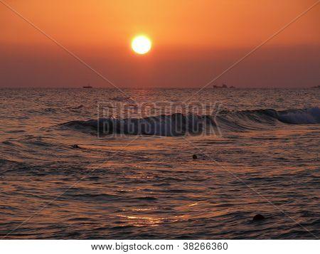 Sunset Above Mediterranean Sea, Turkey