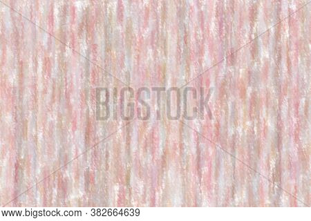 Pink Lines Wax Crayon With Low Coverage Background, Digitally Created.