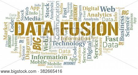 Data Fusion Vector Word Cloud, Made With The Text Only.