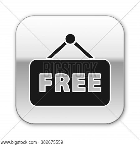 Black Price Tag With An Inscription Free Icon Isolated On White Background. Badge For Price. Promo T