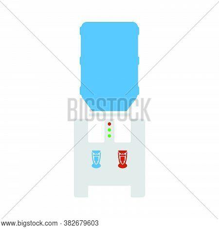 Water Cooling Machine. Flat Color Design. Vector Illustration.