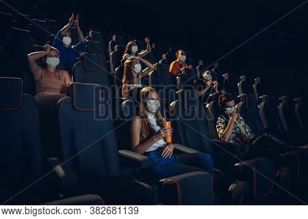 Cinema, Movie Theatre During Quarantine. Coronavirus Pandemic Safety Rules, Social Distance During M