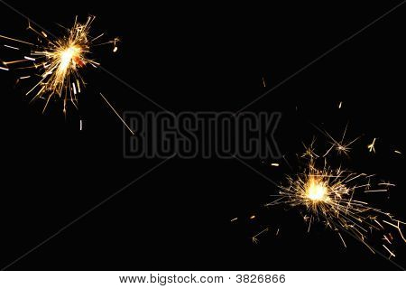 Bengalese candles on a black background close up poster